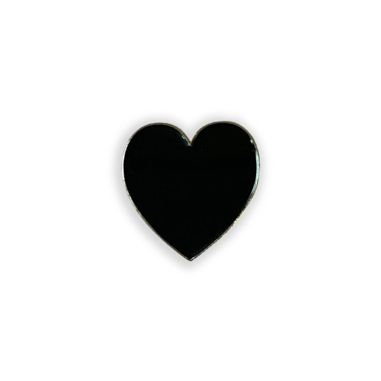 black heart poppin pins lapel pin