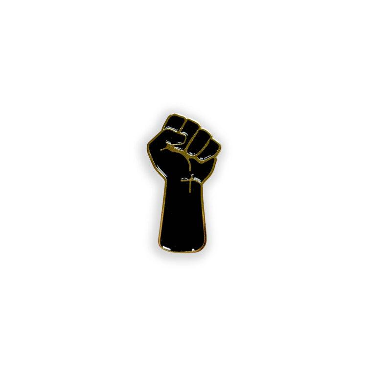 black fist poppin pins lapel pin